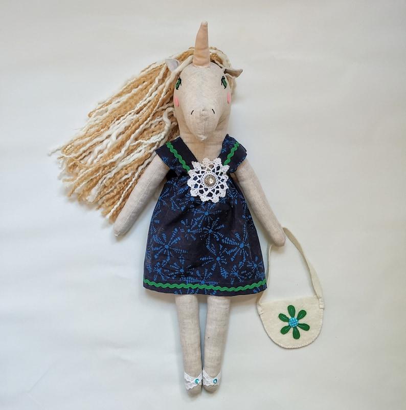 Handmade boho unicorn doll birthday gift for girl
