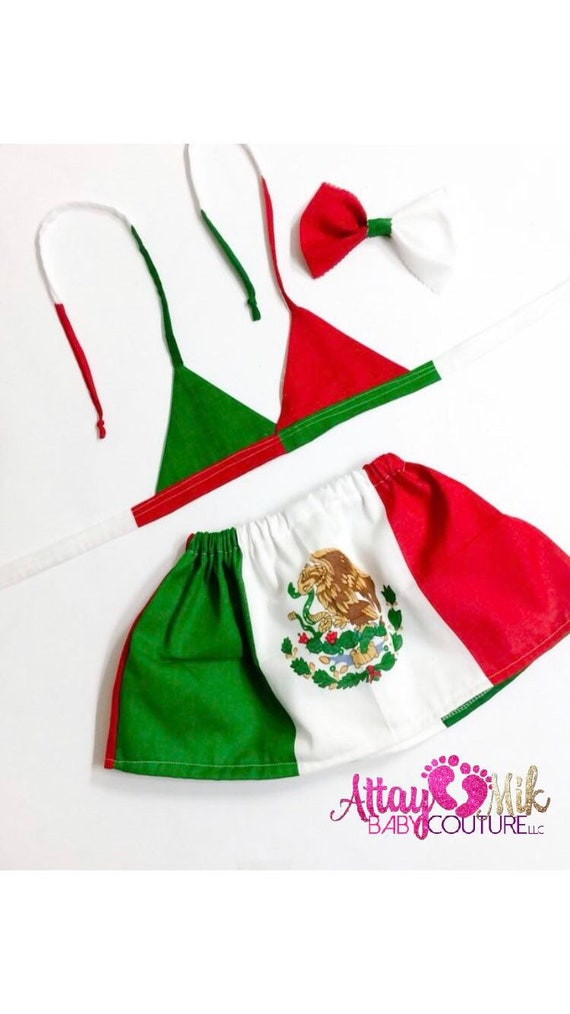 Mexico Flag Skirt Baby Girls Dress Mexico Flag Mexican Heritage