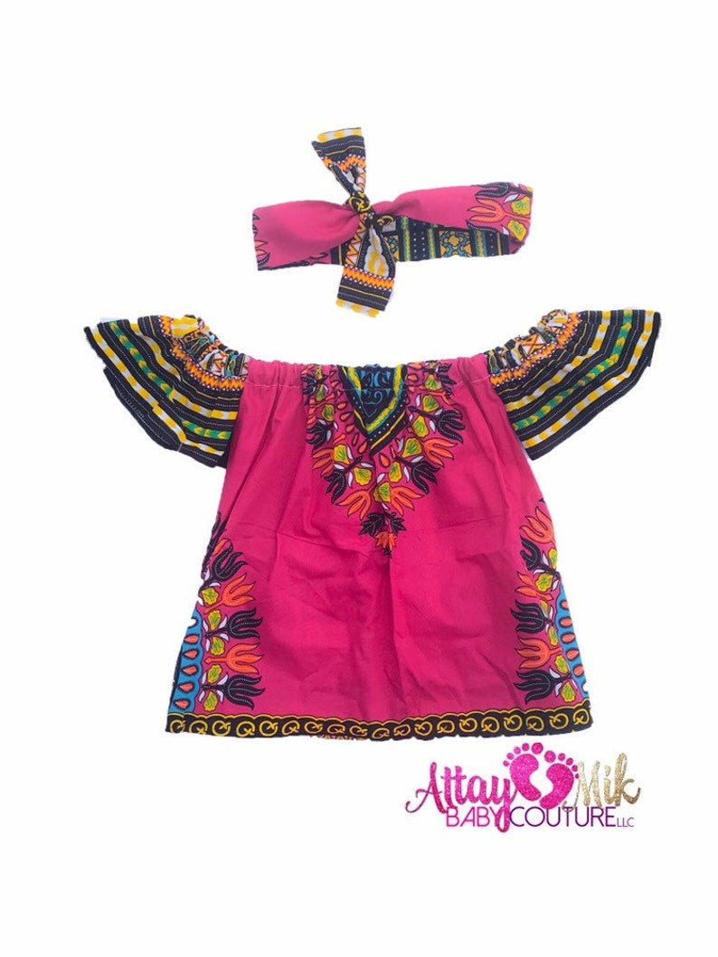 418a3661c220 Baby african clothing .African Bardot dress. Baby Off shoulder