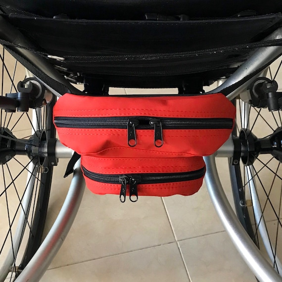 Handmade in The UK Storage Bag Clip On Under Seat Wheelchair Pouch