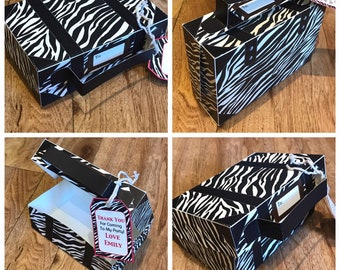 Zebra Print Suitcase Template With Personalized Gift Tag Printable By You Diy See Description For Size