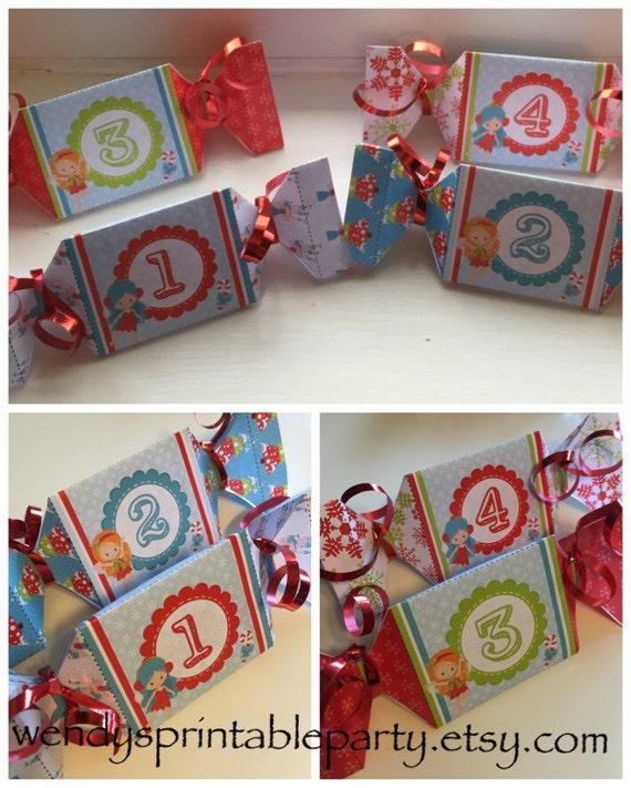 Christmas Crackers Diy.Instant Download Christmas Fairy Themed Christmas Crackers