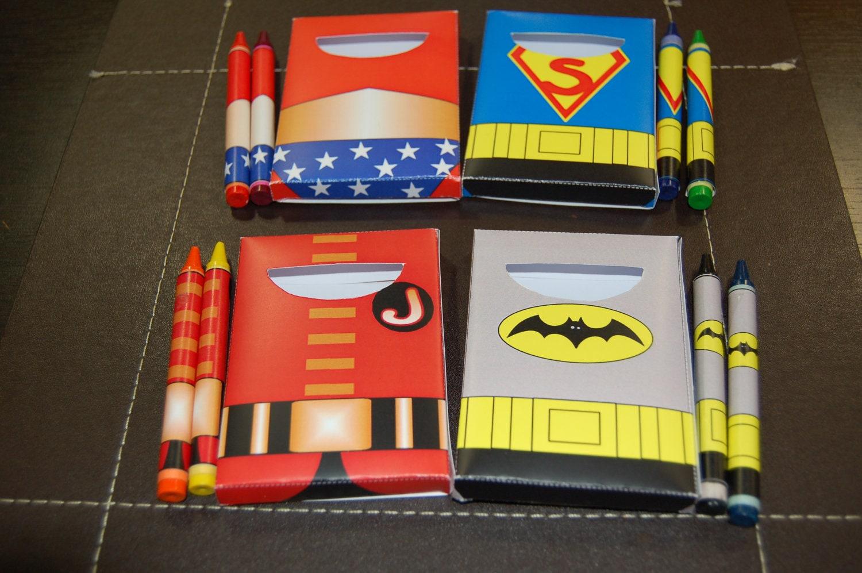 Personalizado / imprimibles superhéroes tema crayon y crayon | Etsy