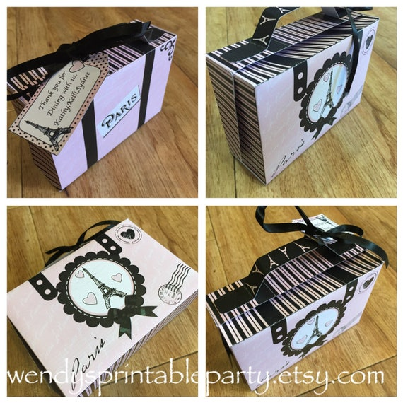 Paris Eiffel Tower Themed Suitcase Template With Personalized Gift
