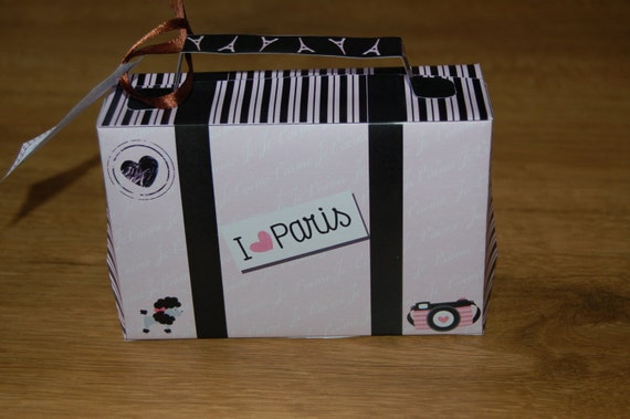 Paris Ooh La Themed Suitcase Template With Personalized