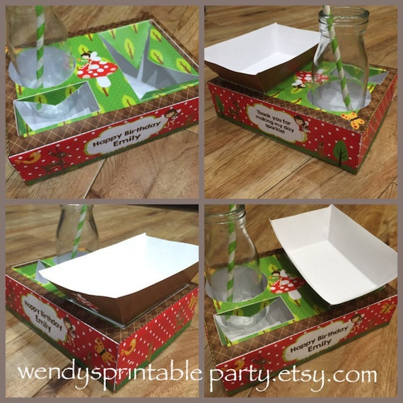 Printable By You Pdf Woodland Fairy Themed Party Food Lunch Box