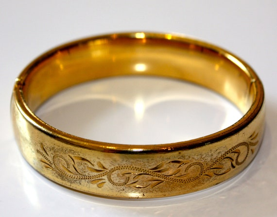 1950s CARLA VINTAGE Bangle Bracelet refinished n 14kyg