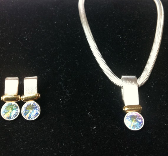 Designer NECKLACE and EARRINGS (Pierced)
