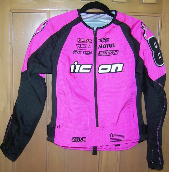 Kitty Women's S MERC Racing Pink Jacket Motorsports Riding Jacket nylon approved Armor Stage Motorcycle 2 ICON Dynax™ chassis Coat CE® Team f6Ygy7bv