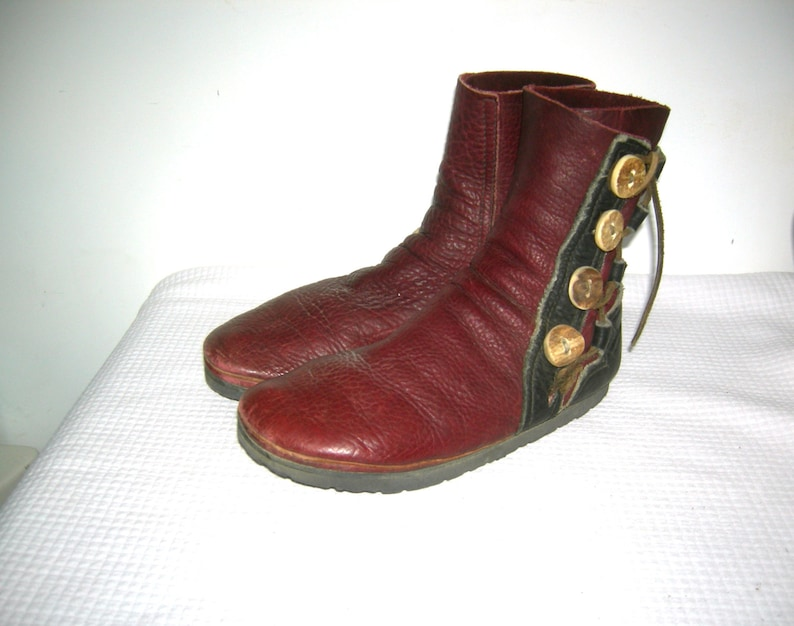 Bald Mountain Boots Buffalo Skin MOCCASIN Boots Leather Antler image 1