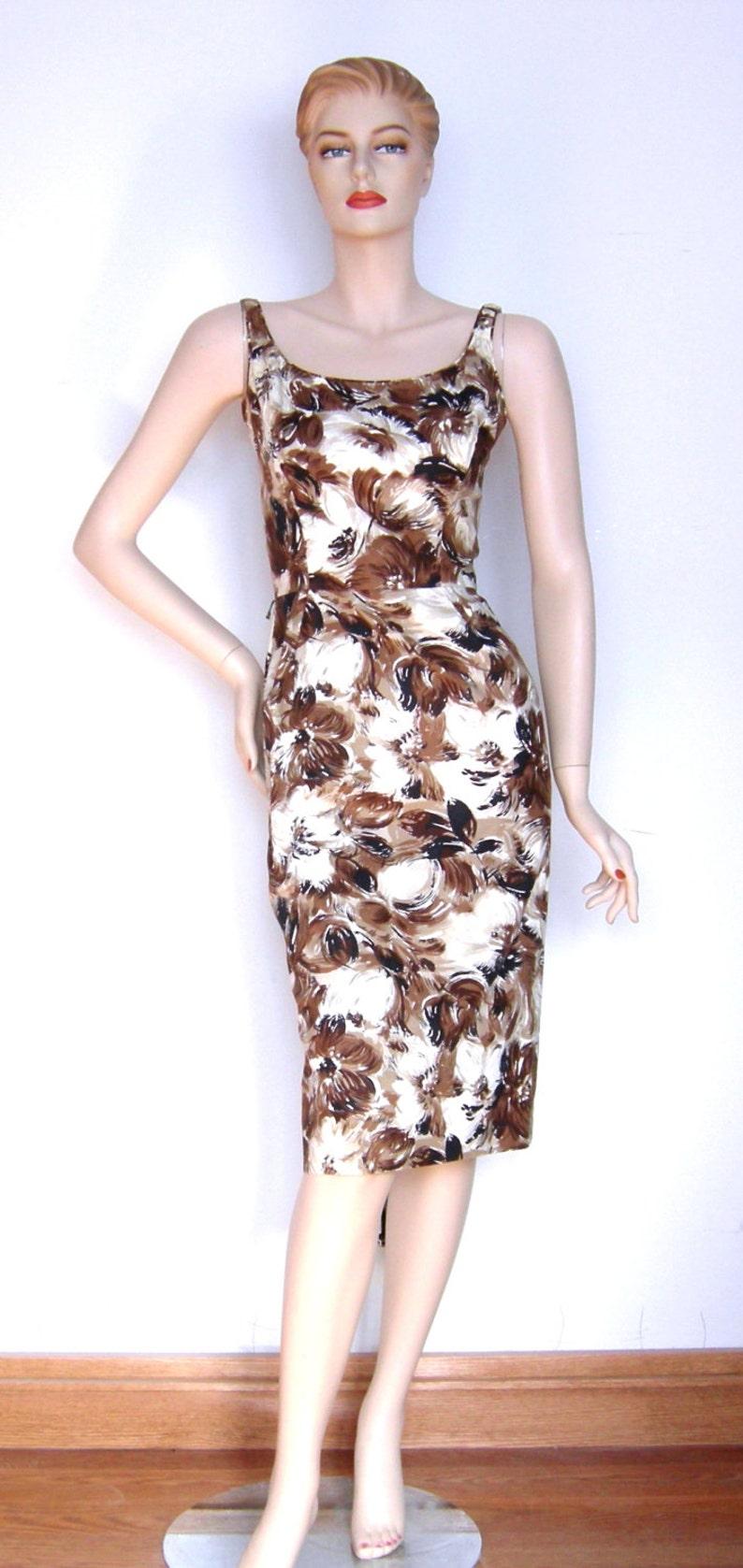 Vintage 1950s Don Loper Dress Duke of Hollywood Couture I Love  5c0b7e8d4
