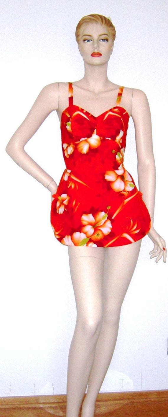 Vintage 1950s Swimsuit/ 1960s Hawaiian Bathingsuit