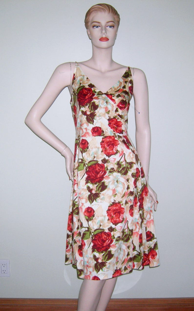 77525969fcc Rare Vintage ISAAC MIZRAHI Dress  Floral  Garden Party  Tea