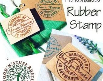CUSTOM Rubber Stamp, Custom Stamp, Personalised Rubber Stamp, Company Stamp, Business Stamp, Wooden Stamp, Handmade, Craft Business Stamp