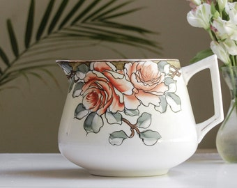 Nippon Lemonade Pitcher -  Art Nouveau Style Handpainted Roses and Gold Gilt