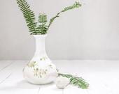 Antique Milk Glass Perfume Bottle- Victorian Decanter