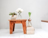 Wooden Stool, Rustic Step Stool