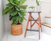 Wooden Ladder- Step Stool- Indoor Plant Stand