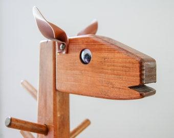 Childs Giraffe Coat Stand - Handmade Whimsical Coat Tree - Zoo Nursery Decor