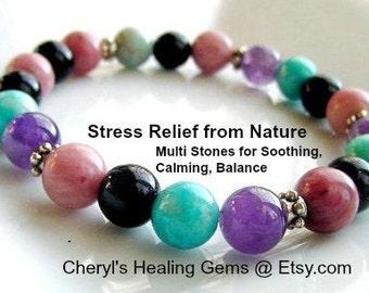 Anxiety Relief Bracelet Anxiety Bracelet Multi Stones