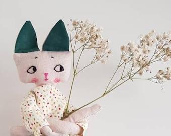 Poupée de collection, poupée chiffon, Poupée tissu, cadeau anniversaire, décoration murale, cadeau naissance, maison, décoration intérieur,