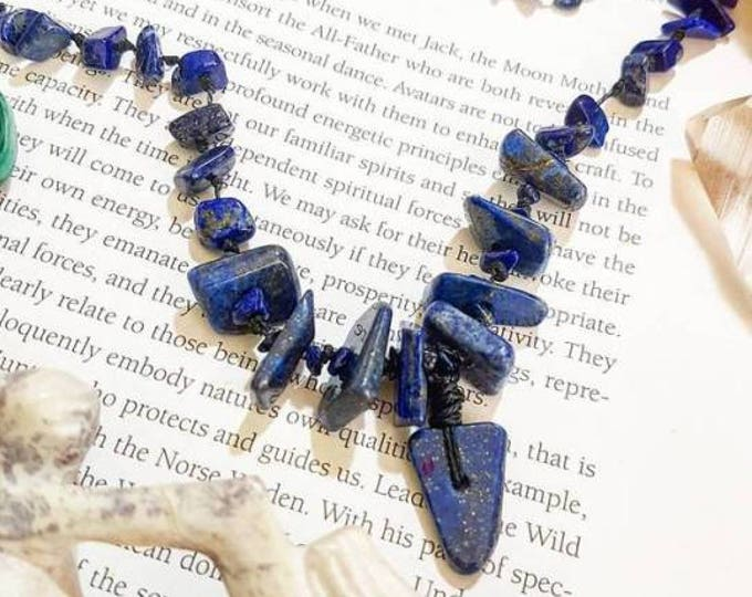 Long Beaded Lapis Lazuli necklace