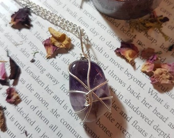 Amethyst Protection and calming necklace