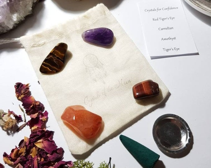 Crystals for Confidence - Crystal pouch - Crystal set