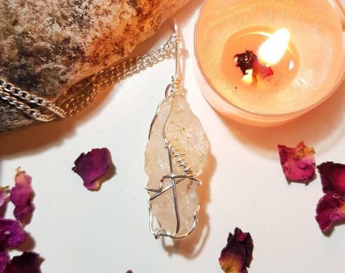 Petalite necklace - Petalite - Rare crystals - Calm - Angels
