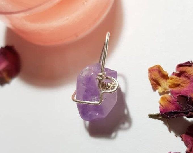 Amethyst pendant - February birthstone - Protection  - Calm - Crystal pendant