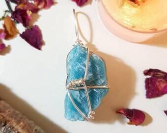 Raw Amazonite pendant