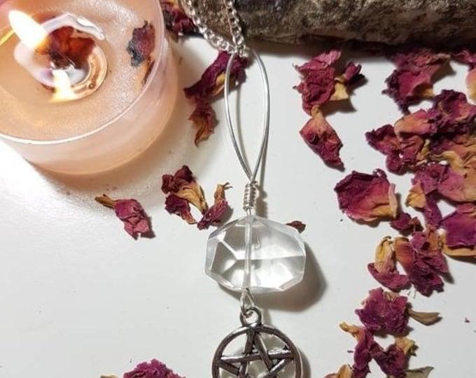 Quartz pentacle Necklace