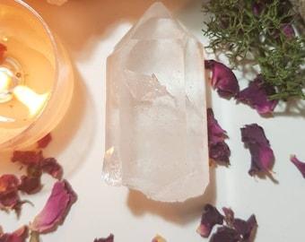 Himalayan Lemurian quartz crystal from the Kullu Valley, Himaschal Pradesh, India.