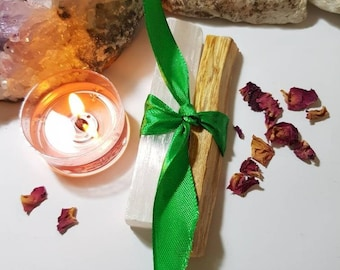 Palo Santo and Selenite Cleansing set - Cleanse your Aura - Cleanse your space