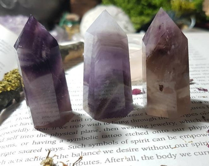 Medium Chevron Amethyst point
