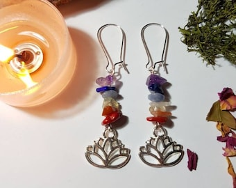 Lotus Chakra earrings - Bohemian Jewelry