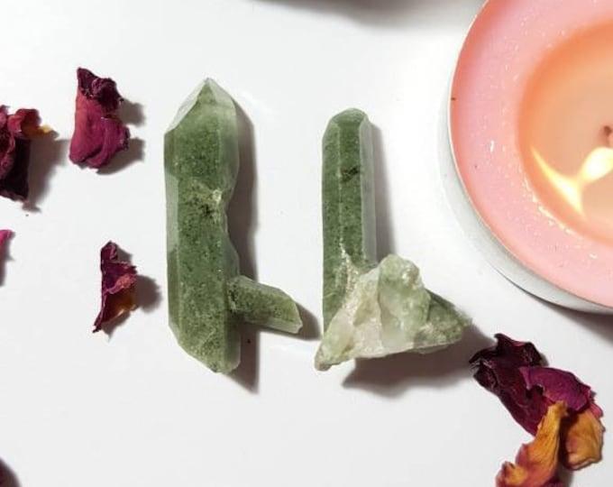 Set of two Chlorite Quartz points - Chlorite Quartz - Crystal clusters - Chlorite Quartz