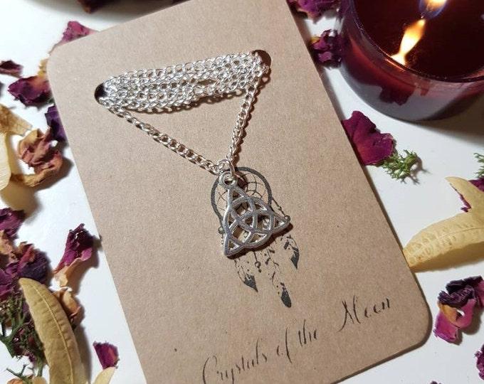 Triquetra silver necklace