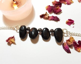 Ultimate protection necklace - Black Tourmaline - Hematite - Grounding - Crystal necklace - Protection