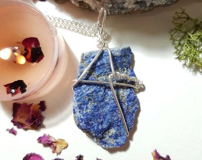 Lapis Lazuli necklace - Lapis Lazuli  - Crystal necklace - Third Eye