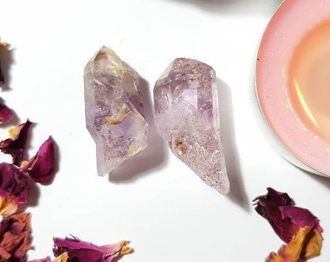 Smoky Amethyst points - Amethyst - Rare crystals - Protection - Calm