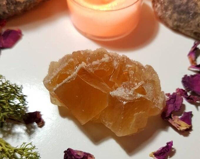 Honey Calcite cluster