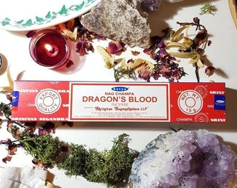 Box of fourteen Satya Dragons Blood incense sticks