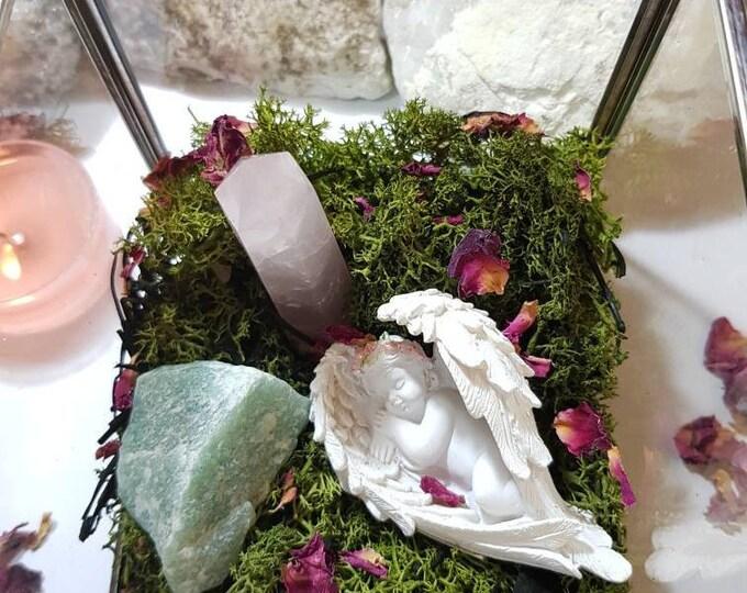 Crystal glass box - Crystal Garden - Crystal homeware - Crystal gift _ Angels