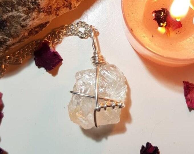Topaz necklace - Topaz - Crystal necklace