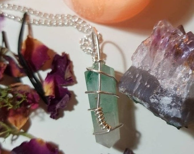 Wire wrapped Green Aventurine necklace