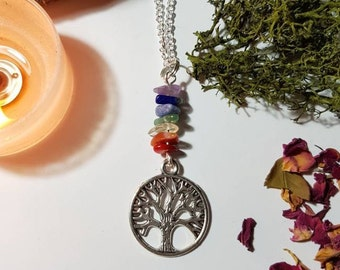 Tree of life Chakra necklace - Yogi necklace - Bohemian Jewelry