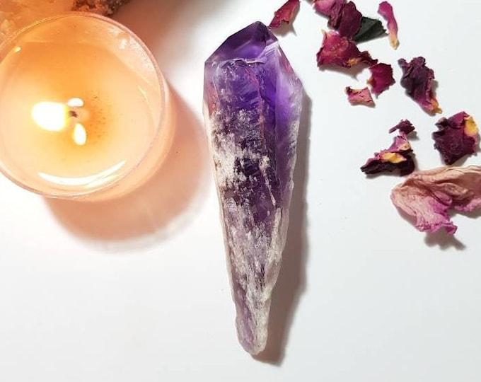 Amethyst wand - Amethyst from Brazil - Deep purple Amethyst - Rare Crystal