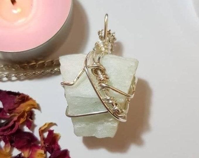 25% OFF Aquamarine necklace - Crystal necklace - Aquamarine - Sea element - Calm