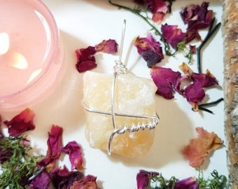 Sunshine yellow Calcite necklace